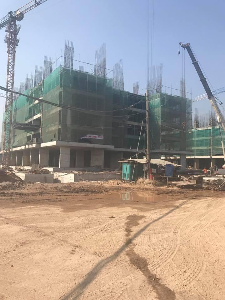 Tiến độ đang xây dựng tầng 6