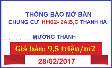 Chung Cư HH02 Thanh Hà